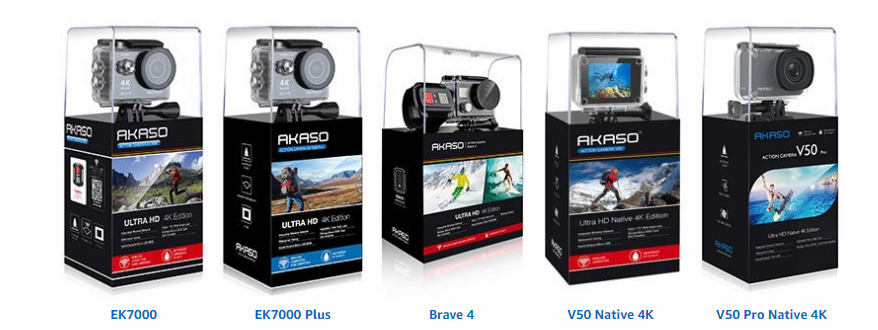 Akaso Action Camera Range